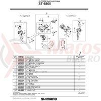 Ansamblu corp maneta Shimano ST-6800 dreapta