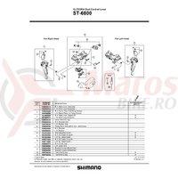 Ansamblu corp maneta Shimano ST-6800 stanga