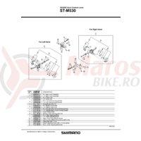 Ansamblu corp maneta Shimano ST-M530 dreapta