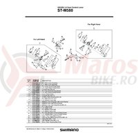 Ansamblu corp maneta Shimano ST-M580 stanga