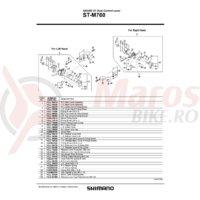 Ansamblu corp maneta Shimano ST-M760 dreapta