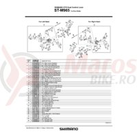 Ansamblu corp maneta Shimano ST-M965 dreapta