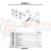 Ansamblu placa exterioara Shimano RD-M7000-11-GS