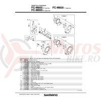 Aparatoare de impact pentru foaie Shimano FC-M800