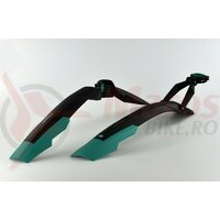 Aparatori Simpla ADHD SDL 27,5'-29' ptr.bicicleta cu suspensie, strangere rapida, negru/turqiz, B361