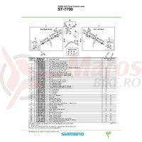 Arc maneta Shimano ST-7700 stanga
