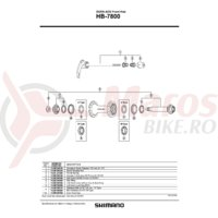 Ax butuc fata Shimano HB-7800 99.75mm 3-15/16
