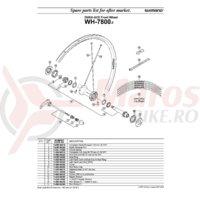 Ax butuc fata Shimano WH-7800-F 99.75mm (3-15/16