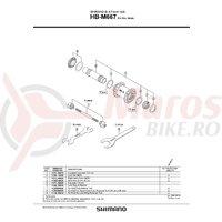 Ax butuc Shimano HB-M667 110mm