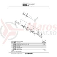 Ax butuc Shimano HB-M775-S/L complet