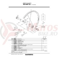 Ax butuc Shimano WH-M776-F Complet 110mm