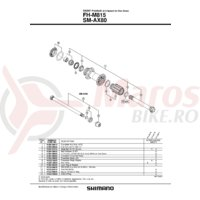 Ax complet pentru butuc Shimano FH-M815