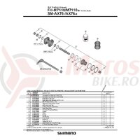 Ax complet pt. butuc Shimano pt. FH-M7110 142mm