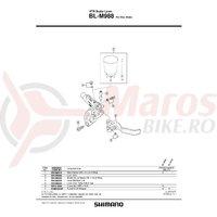 Ax maneta Shimano BL-M988