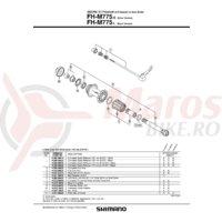 Ax pentru butuc spate Shimano FH-M775-S/L
