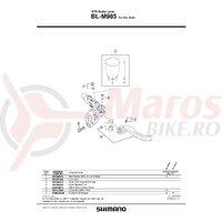 Ax pentru maneta de frana Shimano BL-M985