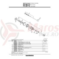 Ax quick release Shimano FH-M775 168mm (6-5/8