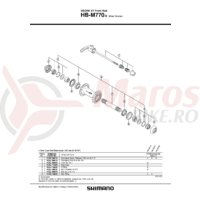 Ax Shimano HB-M770 butuc ax 94mm