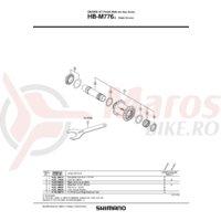 Ax Shimano HB-M776-L butuc ax 110mm