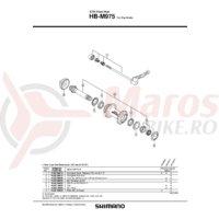 Ax Shimano HB-M975 butuc ax 99.6mm