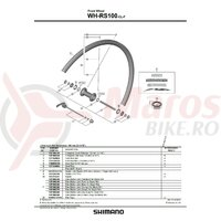 Ax Shimano WH-R100-F complet quick release 133mm (5-1/4