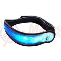 Banda reflectorizanta Proviz pentru brat/picior led albastru