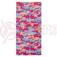 Bandana M-Wave roz/albastru camouflage