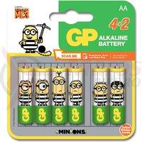 Baterie alcalina GP Ulltra Minions R6 AA