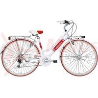 Bicicleta Adriatica Panarea Lady 28 rosu/alb