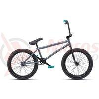 Bicicleta BMX WTP Justice 20.75TT 20 inch gri metalic 2019