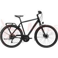 Bicicleta Cannondale Tesoro 1 Black Pearl, Charcoal Grey and Graphite, reflective decal 2020