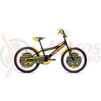 Bicicleta Capriolo Mustang black/yellow 20