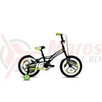 Bicicleta Capriolo Mustang negru/verde 16