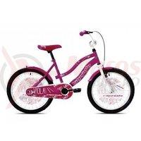 Bicicleta Capriolo Viola Girl roz/violet 20