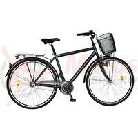 Bicicleta Citadinne 2831 gri inchis/negru