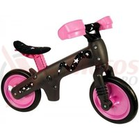 Bicicleta copii B-Bip gri inchis cu roz
