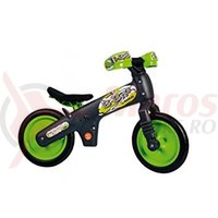 Bicicleta copii B-Bip gri inchis cu verde