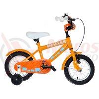 "Bicicleta copii Neuzer BMX - 12"" - Portocaliu/Alb-Albastru-Africa"