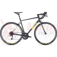 Bicicleta Cube Attain Grey/Flashyellow 2020