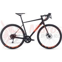 Bicicleta Cube Attain Pro Black/Orange