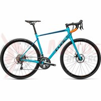 Bicicleta Cube Attain Race Petrol/Orange 2021
