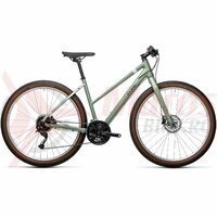 Bicicleta Cube Hyde Trapeze Green/Grey 28' 2021