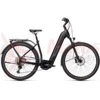 Bicicleta Cube Kathmandu Hybrid EXC 625 Easy Entry Black/Grey 2021