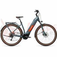 Bicicleta Cube Kathmandu Hybrid One 500 Easy Entry Blue/Red 2021