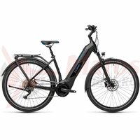 Bicicleta Cube Kathmandu Hybrid Pro 500 Easy Entry Black/Blue 2021