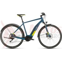 Bicicleta Cube Nature Hybrid EXC 500 Allroad blue/lime 2020