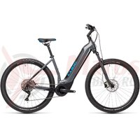 Bicicleta Cube Nuride Hybrid Pro 625 Easy Entry Grey/Blue 2021