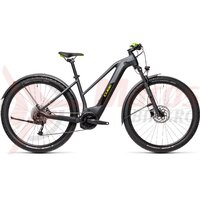 Bicicleta Cube Reaction Hybrid Performance 625 Allroad Trapeze 27.5' Iridium/Green 2021