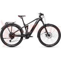 Bicicleta Cube Stereo Hybrid 120 Pro 500 Allroad 29' Black/Red 2021
