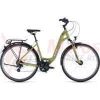 Bicicleta Cube Touring Easy Entry Green/White